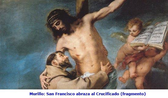 murillo sanfrancisco abraza al Crucificadofragmento